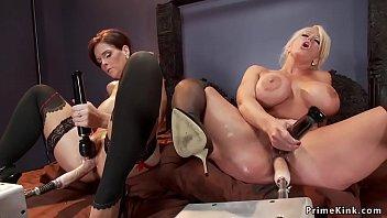 MILF lesbians fucking dp machines