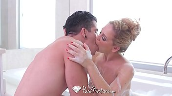 PUREMATURE Busty MILF Cherie Deville fucked with messy creampie