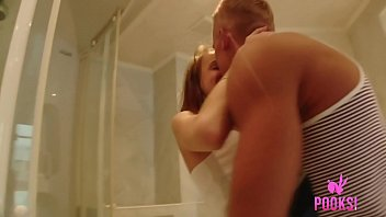 Young Flat Chested Bella T Bangs Her Hard Boyfriend In Bed!