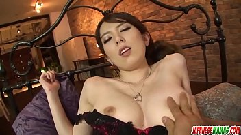 Yui Hatano sucks it wet before putting it into her ass - More at Japanesemamas com