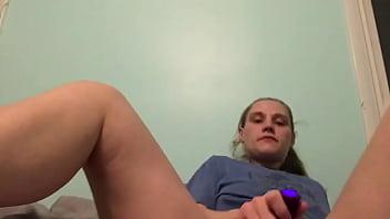 Blonde solo masturbation