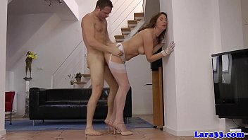 Mature legs stockings utube - Pulled young guy drills posh euro cougar