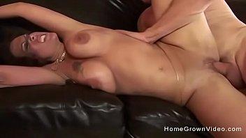 Big tit amateur milf gets her holes stretched