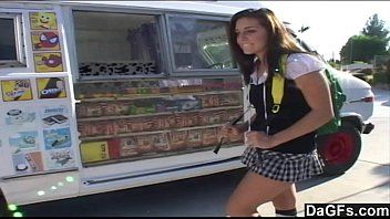 Iced blowjob - Ice cream man dips his popsicle in a young teen