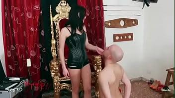 Italian Beauty Slaps Hard Her Stupid Slave