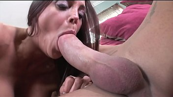 Brunette MILF with perky tits fucks a dude like a pro