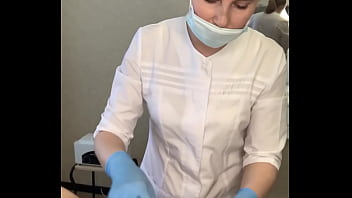Dude spontaneously cum right on the procedure from the beautiful Russian master SugarNadya 2 min