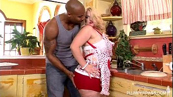 Blonde in Kitchen Takes Big Black Cock in Her Ass