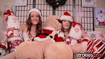 Megan Marx & Lily Glee Beg For Cum In Mouth For Christmas