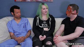Spicy nympho was taken in ass hole madhouse for uninhibited therapy