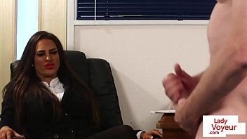Streaming Video Brit voyeur instructs sub to jerk in office - XLXX.video