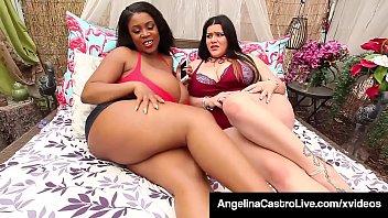 Sexy BBWs Angelina Castro & Maserati Fuck Small Latino! 11 min