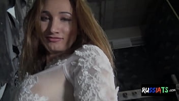 Bigtits russian shemale solo dildoing her ass