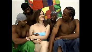 What could cute white lady Tatum Reed wish about if she has horny well-stuffed always ready to have some fun lover? May be four such guys can help.