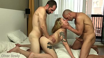 Drunk Tight Young Student Girl was Rough Fucked by Two Friends. Double Pussy Penetration