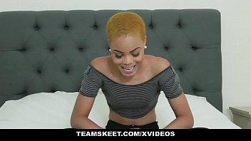 TeenyBlack - Horny Ebony Teen Gets Tight Pussy Stretched image