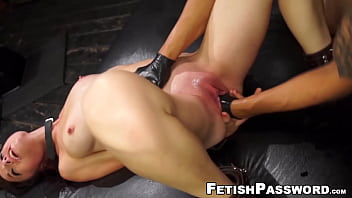 Little redhead Kaisey Dean fisted and relentlessly pounded
