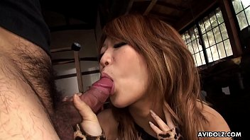 Japanese honey, Yuria Takeda licks dick, uncensored