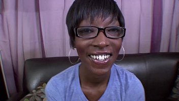Ebony Sister gets blackmailed into giving her boss a blowjob