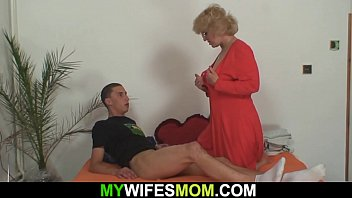 Girlfriends hot mom rides his cheating cock