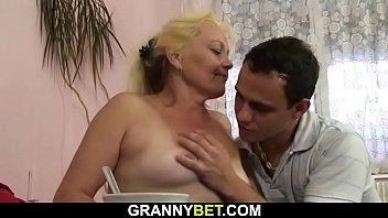 Hairy blonde granny