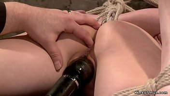 Anal hooked slave ass whipped
