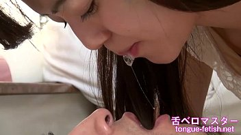 Japanese Asian Girls Fetish Deep Kissing & Handjob, Tongue Fetish, Spit Fetish - More at tongue-fetish.net
