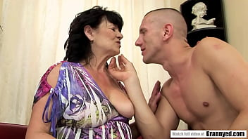 Fatty Grandma plowed by energetig big dick - Helena May