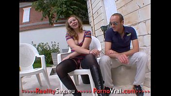 French Petite teen fuck stranger in front of boyfriend!