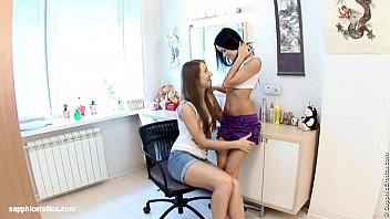 Petite Twosome by Sapphic Erotica - sensual lesbian sex scene with Angellina and