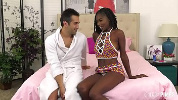Big Tits Ebony Babe Hazel  Grace Wild and Hardcore Sloppy Interracial Blowjob and Fucking with Donnie Rock