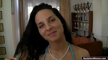 Teen babe licked n pussy rammed by Rocco
