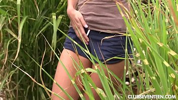 Small tiny nude woman - Tiny titted teen adriana masturbating in the garden