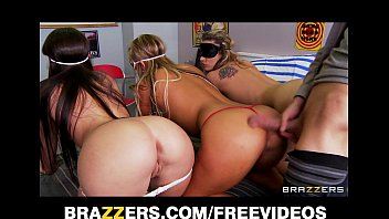 Orgy band - Three big booty teens are blindfolded and fucked in an orgy