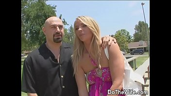 Blonde wife takes fat dick in front of husband thumbnail