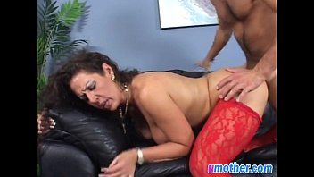 Long make overs shaved Step mom with big tits banged in doggy on couch