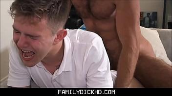 Daddy and son gay porn - Stepdad punish fucks twink stepson
