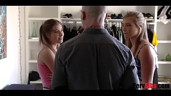 Twin Sisters Take Turns and Blow Brother- April Aniston & Vienna Rose 8 min