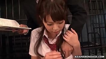 Kinky schoolgirl, Yu Ayana got throatfucked and banged all day 58 sec