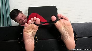 Clints gay Bearded hunk tickled by a mature deviant while being bound