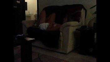 Sofa masturbation Mom caught on voyeur cam
