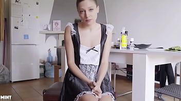 Talia Mint Maid Gets in Trouble Masturbating