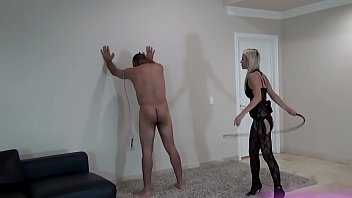 Hard Whipping By Hot Sadistic Blonde Mistress
