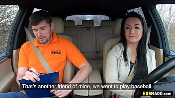Kristof Cale fucks Sofia The Bum on the back seat of his car