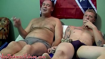 Chubby mature dude barebacked by blond amateur