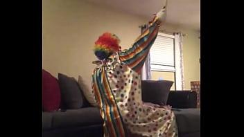Vintage musical clown doll Clown fucks wife when husband leaves house