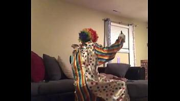 Clown fucks wife when husband leaves house
