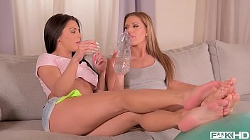 Post Workout Threesome With Fit Babes Athina & Inna
