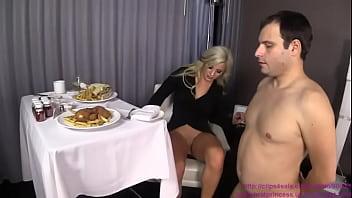 Cuckold femdom - Cuckold meal