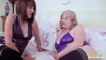 OldNannY Two British Mature Lesbians Masturbating
